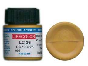 Farba LifeColor LC36 basic matt leather