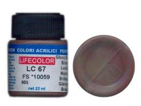 Farba LifeColor LC67 basic gloss brown