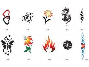 Sada šablón pre trblietavé tetovanie Fengda S03