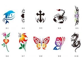 Sada šablón pre trblietavé tetovanie Fengda S06