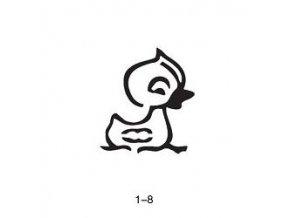 Šablóna pre trblietavé tetovanie Fengda 01-08