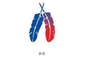 Šablóna pre trblietavé tetovanie Fengda 02-02