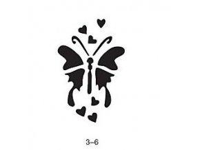 Šablóna pre trblietavé tetovanie Fengda 03-06