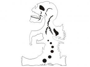 Airbrush šablóna lebky/skull B009