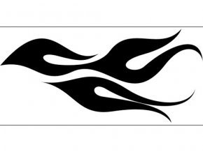 Airbrush šablóna plamene /flames C032