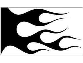 Airbrush šablóna plamene /flames C117