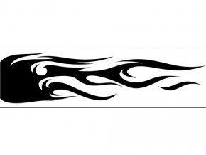 Airbrush šablóna plamene /flames C177