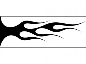 Airbrush šablóna plamene /flames C548
