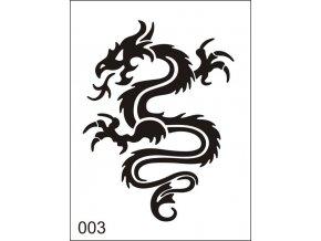 Airbrush tetovacia šablona pre jednorazové použitie M003
