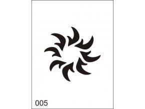 Airbrush tetovacia šablona pre jednorazové použitie M005