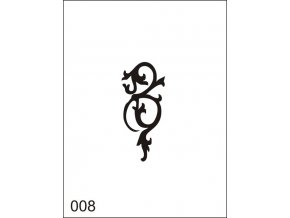 Airbrush tetovacia šablona pre jednorazové použitie M008
