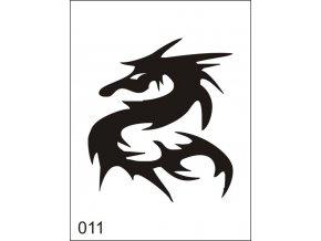 Airbrush tetovacia šablona pre jednorazové použitie M011