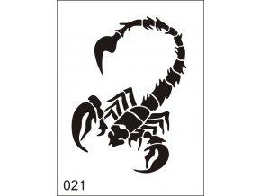 Airbrush tetovacia šablona pre jednorazové použitie M021