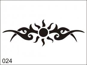 Airbrush tetovacia šablona pre jednorazové použitie M024