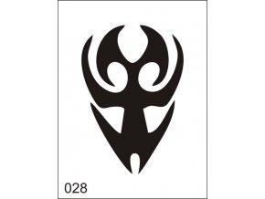 Airbrush tetovacia šablona pre jednorazové použitie M028