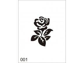 Airbrush tetovacia šablóna pre jednorazové použitie V001