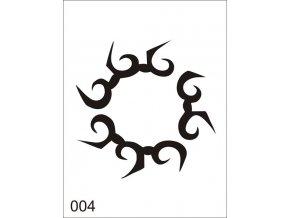 Airbrush tetovacia šablóna pre jednorazové použitie V004