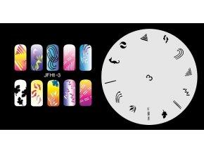 Šablona na nechty (airbrush nail art) Fengda  JFH01-003
