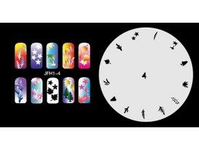 Šablona na nechty (airbrush nail art) Fengda  JFH01-004