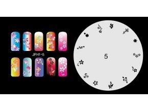Šablona na nechty (airbrush nail art) Fengda  JFH01-005