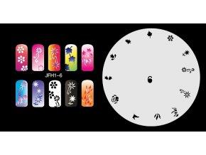 Šablona na nechty (airbrush nail art) Fengda  JFH01-006
