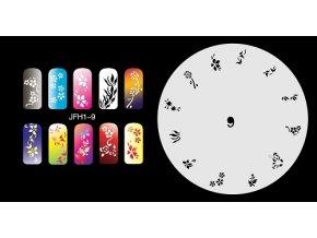 Šablona na nechty (airbrush nail art) Fengda  JFH01-009