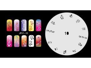 Šablona na nechty (airbrush nail art) Fengda  JFH01-010