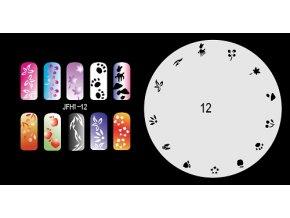 Šablona na nechty (airbrush nail art) Fengda  JFH01-012