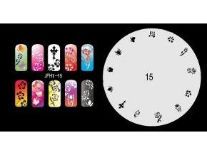 Šablona na nechty (airbrush nail art) Fengda  JFH01-015