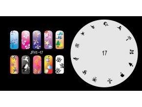 Šablona na nechty (airbrush nail art) Fengda  JFH01-017