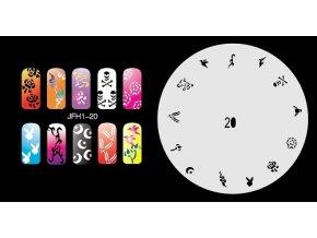 Šablona na nechty (airbrush nail art) Fengda  JFH01-020