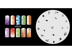 Šablona na nechty (airbrush nail art) Fengda JFH02-022