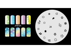 Šablona na nechty (airbrush nail art) Fengda JFH02-024