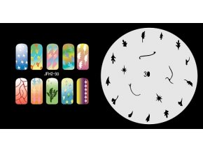 Šablona na nechty (airbrush nail art) Fengda  JFH02-030
