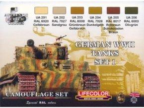 Set kamuflážnych farieb LifeColor CS01 GERMAN WWII TANKS SET1