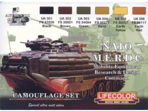 Set kamuflážnych farieb LifeColor CS02 NATO M.E.R.D.C Mobility Equipment Research and Design Command