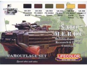 Set kamuflážnych farieb LifeColor CS02 NATO M.E.R.D.C Mobility Equipment Research and Design Command