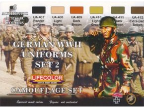 Set kamuflážnych farieb LifeColor CS05 GERMAN WWII UNIFORMS SET2