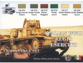 Set kamuflážnych farieb  LifeColor CS08 ITALIAN WWII REGIO ESERCITO