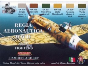 Set kamuflážnych farieb LifeColor CS19 REGIA AERONAUTICA WWII SET1 FIGHTERS