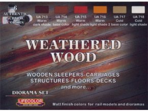 Set dioramatických farieb LifeColor CS20 WEATHERED WOOD