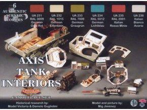 Set kamuflážnych farieb LifeColor CS22 AXIS TANK INTERIORS