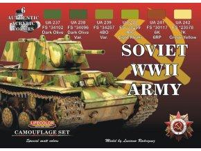 Set kamuflážnych farieb LifeColor CS23 SOVIET WWII ARMY