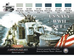 Set kamuflážnych farieb LifeColor CS24 US NAVY WIISET1