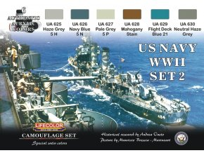 Set kamuflážnych farieb LifeColor CS25 US NAVY WII SET2