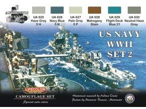 Set kamuflážnych farieb LifeColor CS25 US NAVY WII SET2