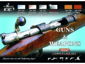 Set kamuflážnych farieb LifeColor CS26 GUNS & WEAPONS