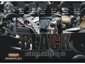 Set kamuflážnych farieb LifeColor CS27 BLACK Rubber Shades & Co.