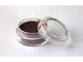 Trblietavý prášok Fengda Glitter Dark brown 10 ml