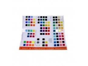 1 Shot vzorkovník farieb